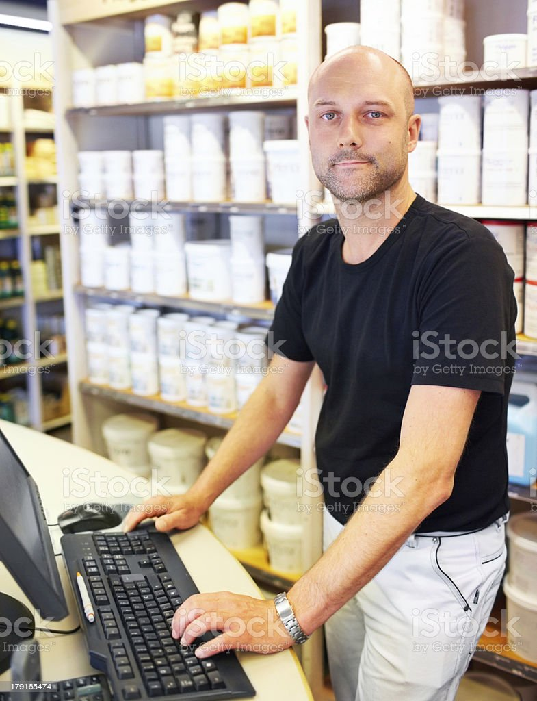 The internet makes my business so simple stock photo