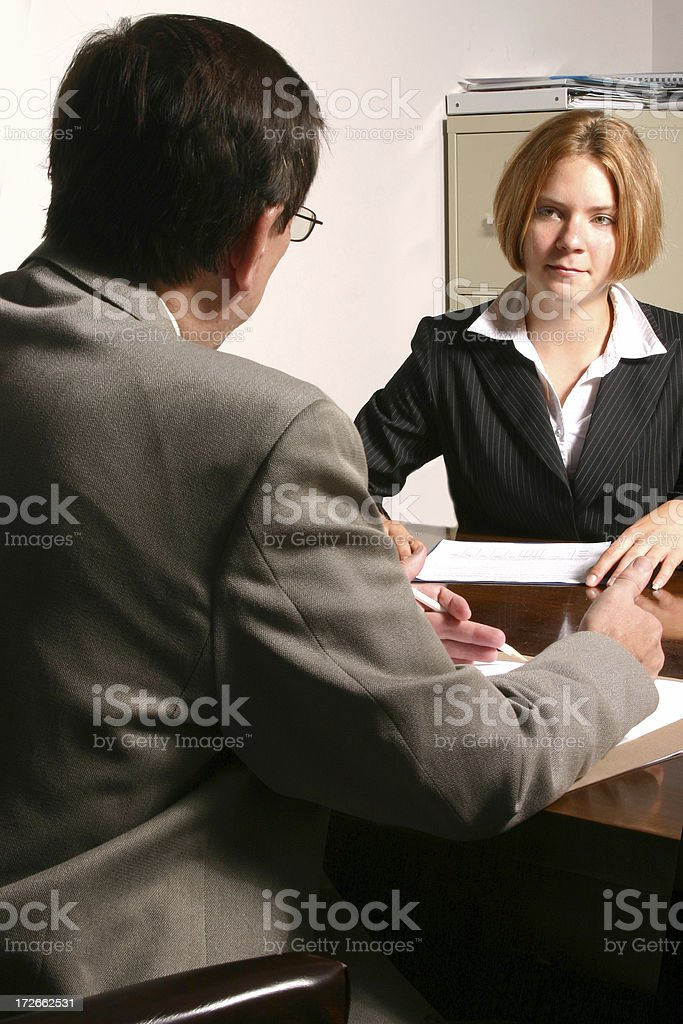 The Interview: Her Side royalty-free stock photo