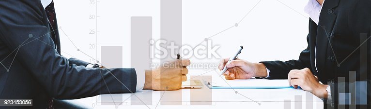 istock The investment of two traders in the stock market. 923453056