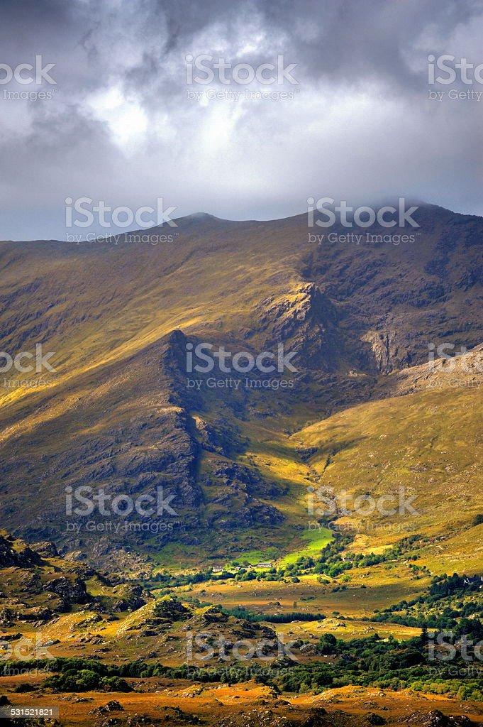 The Irish landscape, Connor Pass, Ireland stock photo