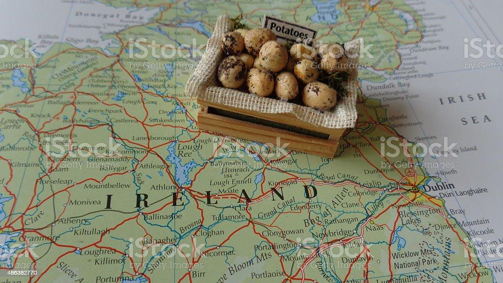 The Irish Potato Famine stock photo