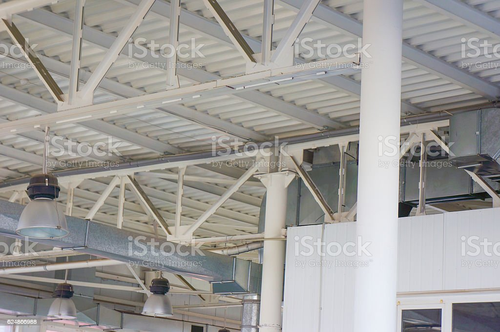 The iron structure . The construction industry . stock photo