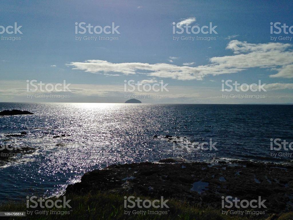 The Island of Aisla Craig stock photo