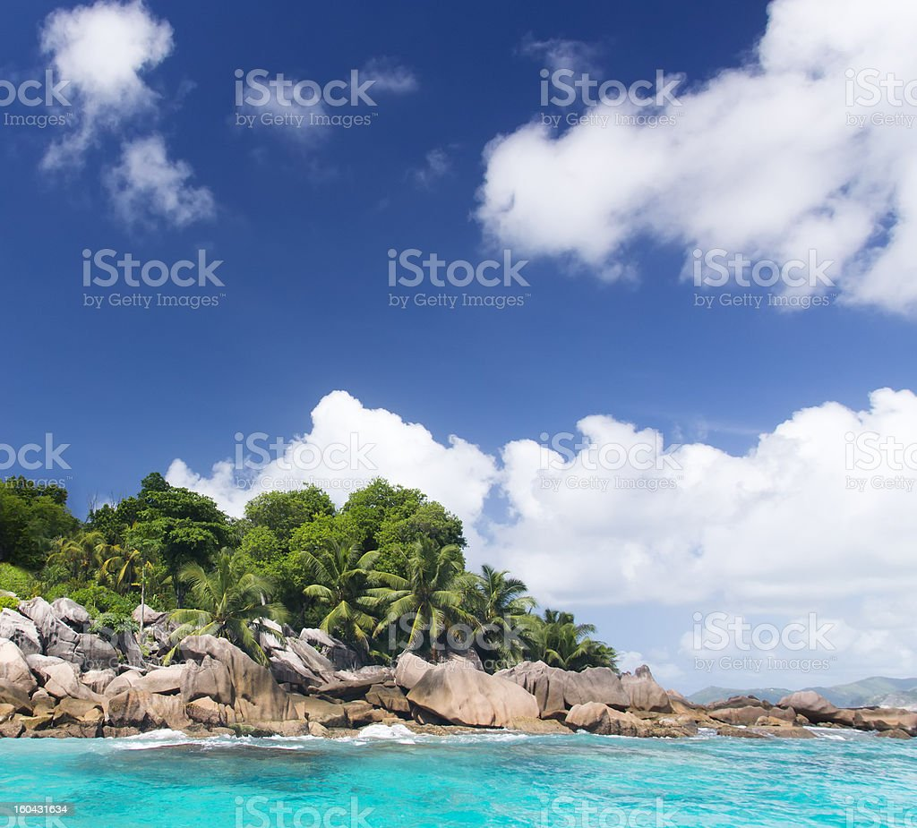 The island of dreams. Rest and relaxation. royalty-free stock photo
