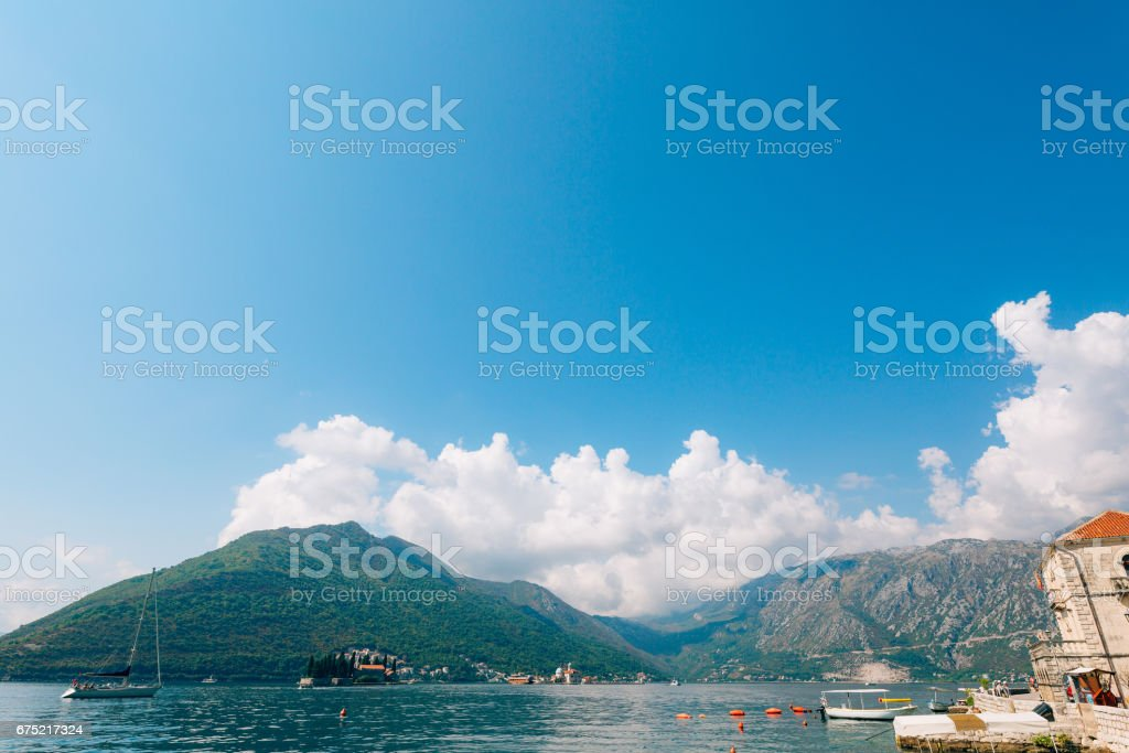 The island of Gospa od Skrpjela, Kotor Bay, Montenegro royalty-free stock photo