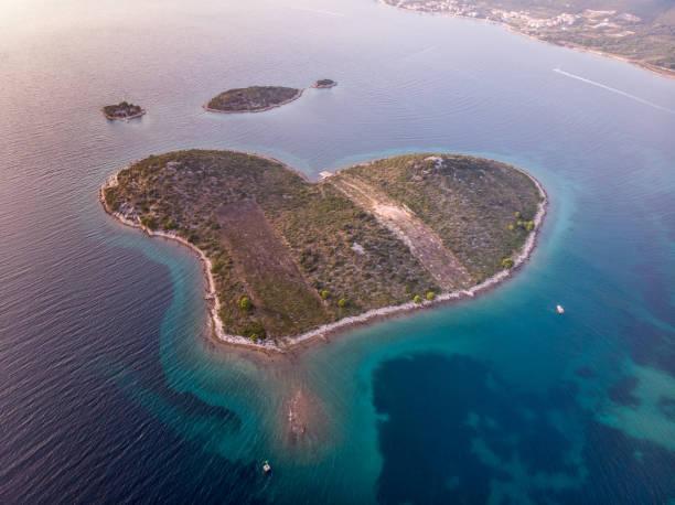 the Island of Love from drone – zdjęcie
