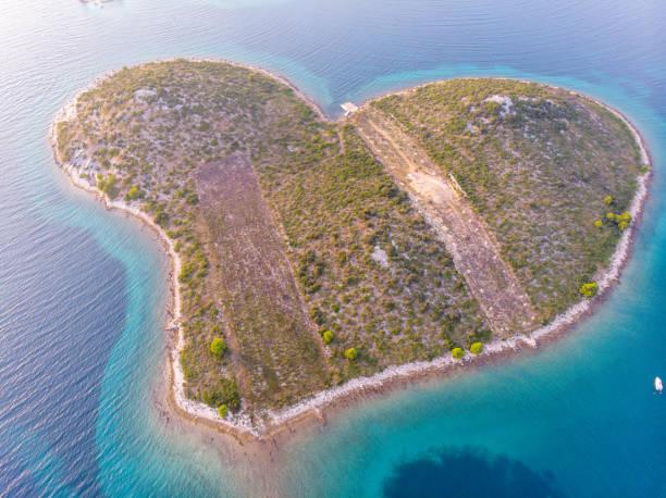 The Island of Love in Croatia from drone – zdjęcie