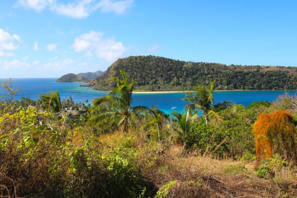 Die Insel der Naukacuvu und im Hintergrund die Insel Nanuya Balavu, Yasawa, Fidschi – Foto