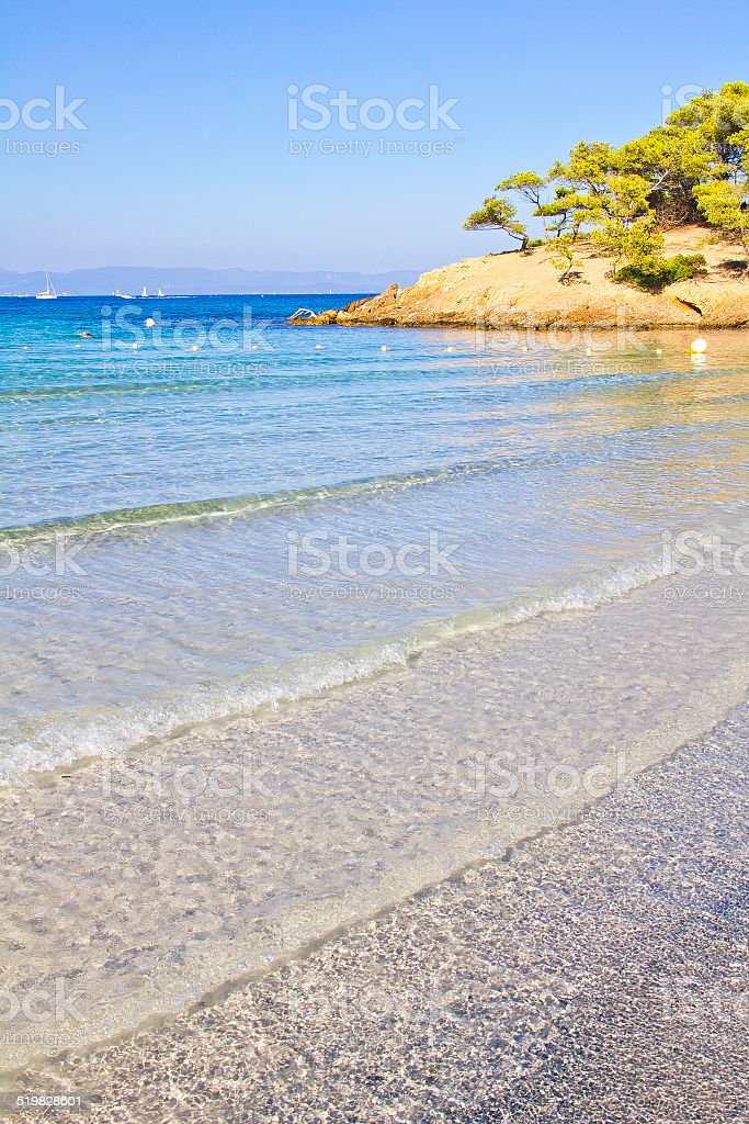 The island of Porquerolles, south of France stock photo