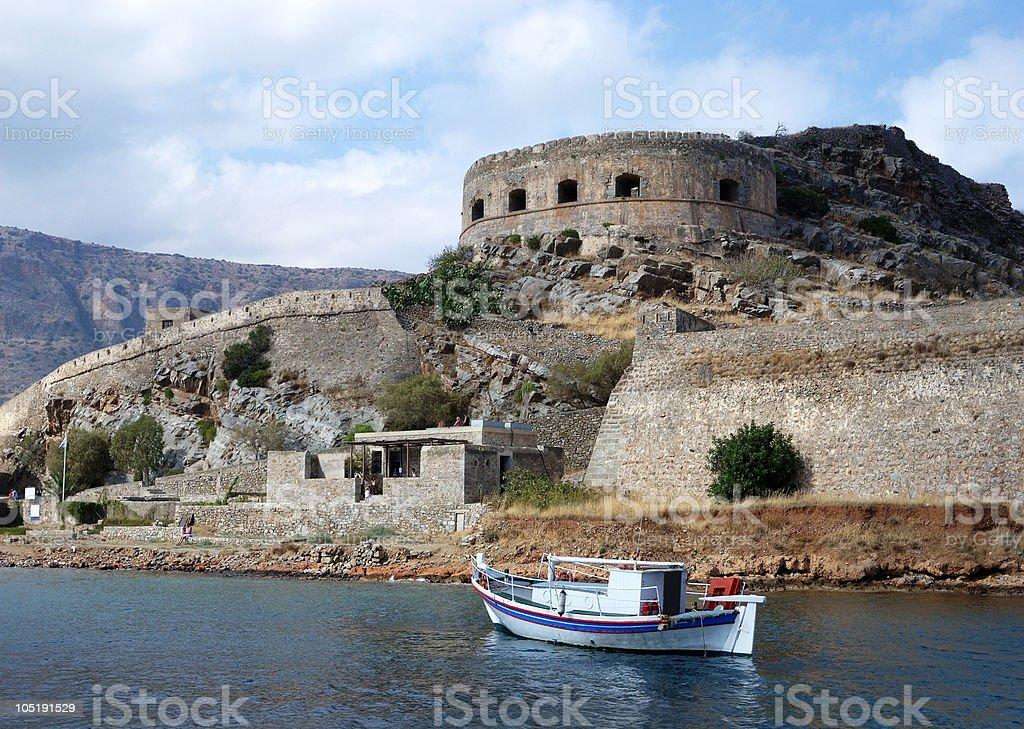The island of Spinalonga (Kalydon) royalty-free stock photo