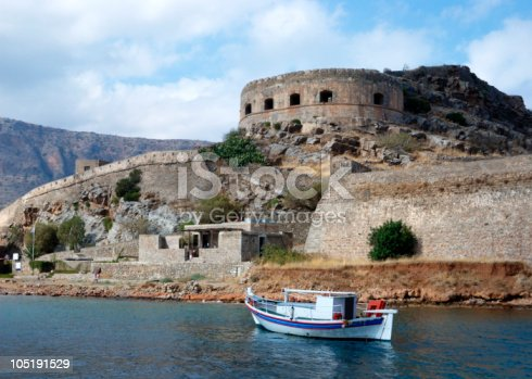 Spinalonga island. Crete, Greece.