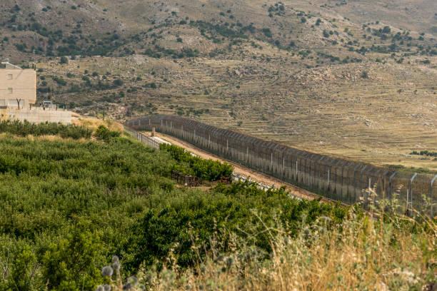 The Israel Syria border stock photo