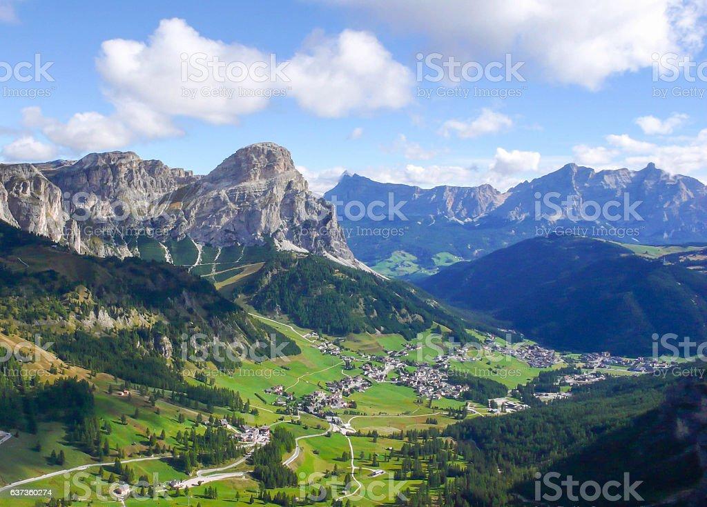 the Italian Dolomites in fall stock photo
