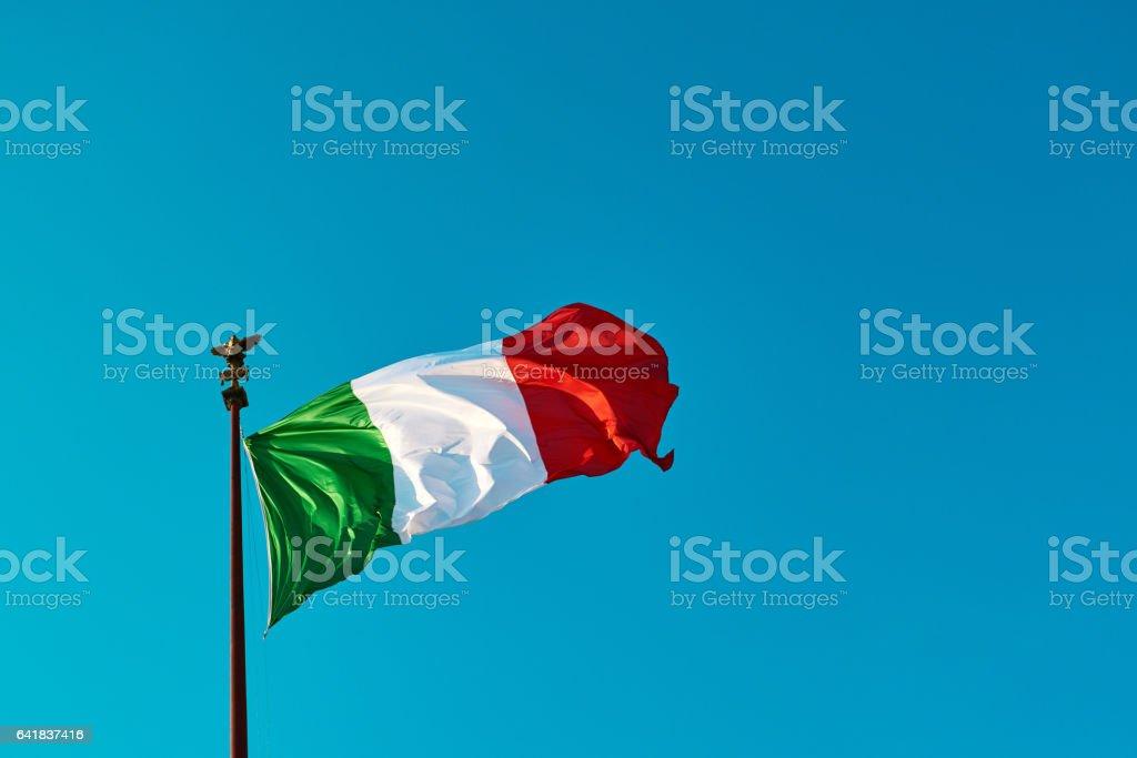 la bandera italiana - foto de stock