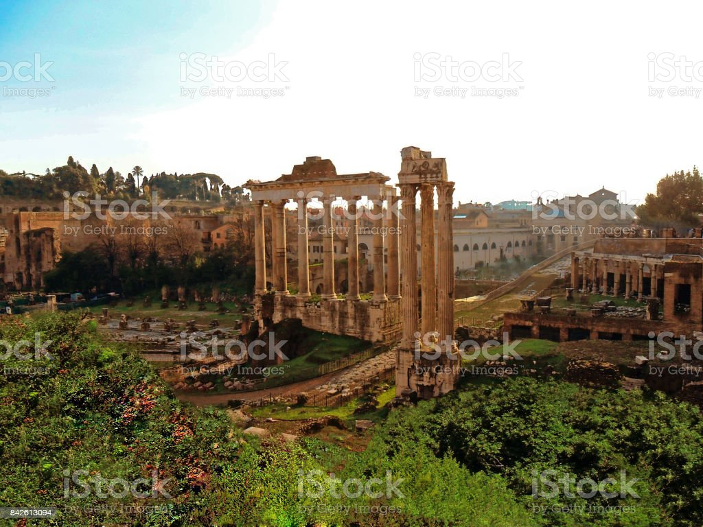 The Italy, city of Rome, Roman Forum stock photo