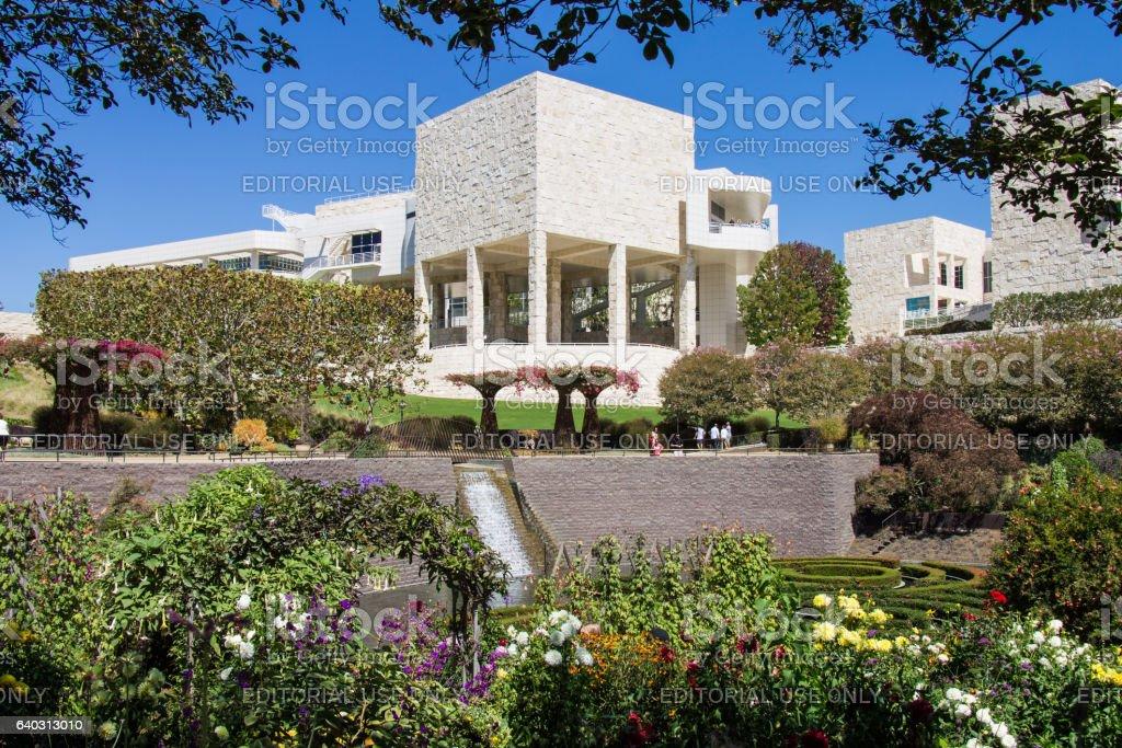 The J. Paul Getty Museum Gardens stock photo
