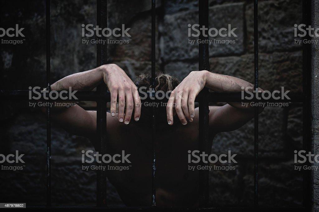 The Jail sentence stock photo