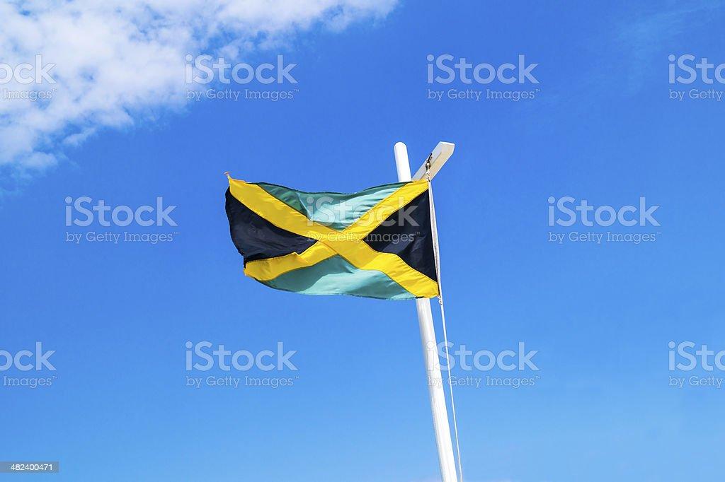 A bandeira nacional jamaicano - foto de acervo