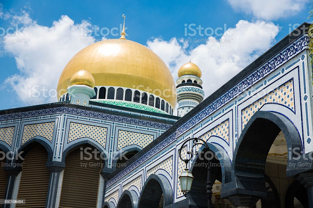 The Jame'Asr Hassanil Bolkiah Mosque. stock photo