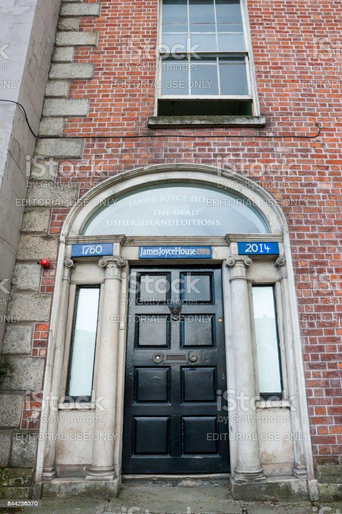 The James Joyce House of the Dead in Dublin, Ireland stock photo
