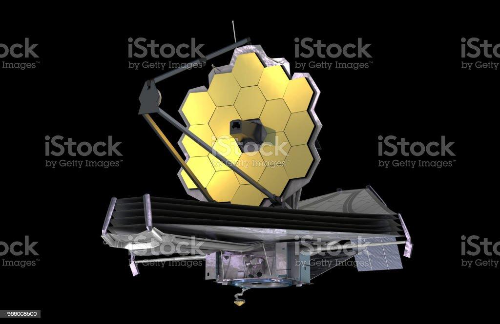 James Webb Space Telescope (JWST eller Webb), 3d illustration, element av denna bild är inredda av NASA - Royaltyfri Astronomi Bildbanksbilder