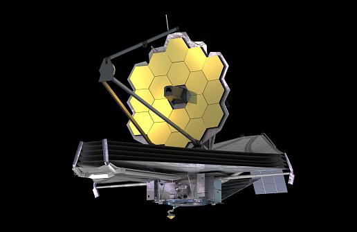 James Webb Space Telescope 3d Illustration Element Av Denna Bild Är Inredda Av Nasa-foton och fler bilder på Astronomi