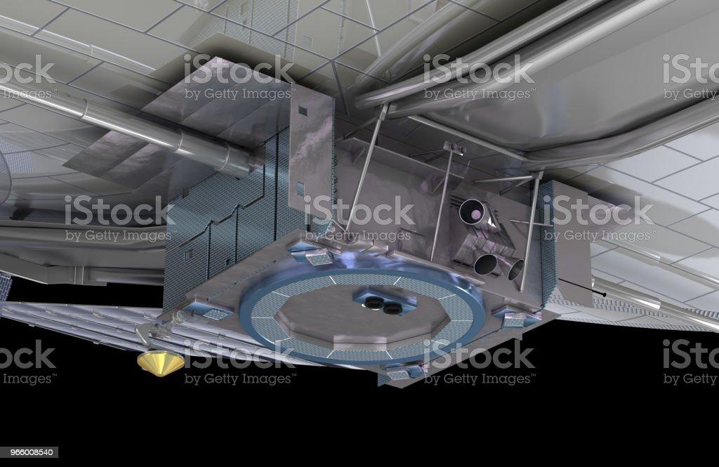 Das James Webb Space Telescope (JWST oder Webb), 3d Illustration, Elemente des Bildes sind von der NASA eingerichtet - Lizenzfrei Astronomie Stock-Foto