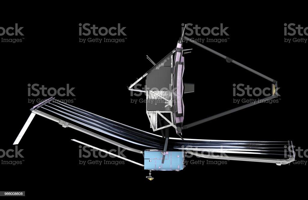 De James Webb Space Telescope (JWST of Webb), 3d illustratie, elementen van dit beeld zijn ingericht door de NASA - Royalty-free Astronomie Stockfoto