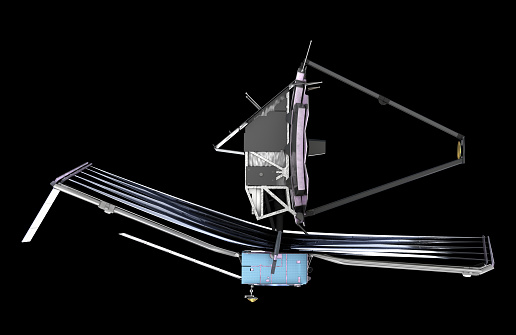 De James Webb Space Telescope 3d Illustratie Elementen Van Dit Beeld Zijn Ingericht Door De Nasa Stockfoto en meer beelden van Astronomie