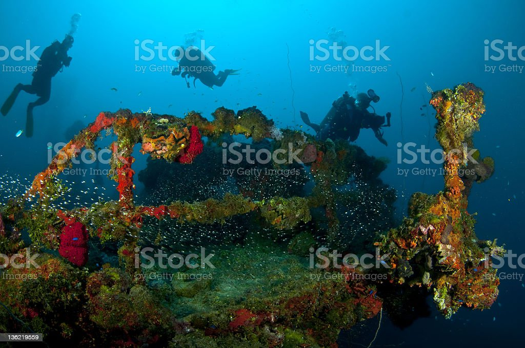 The Japanese wreck stock photo