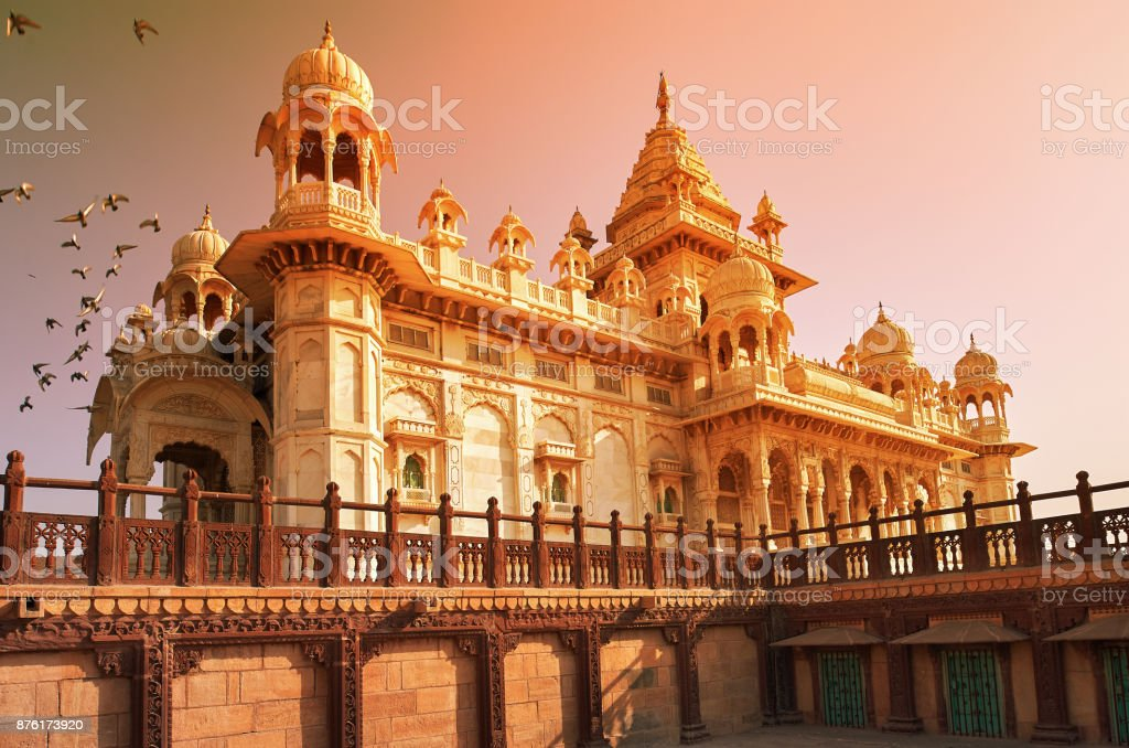 The Jaswant Thada is a cenotaph located in Jodhpur, in the India stock photo