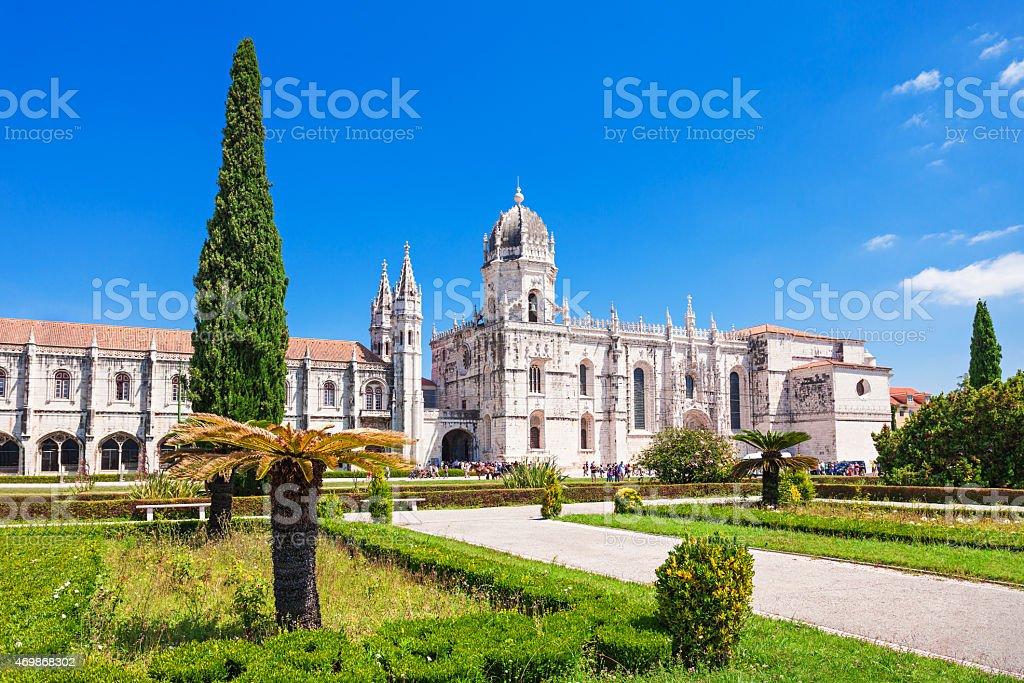 The Jeronimos Monastery stock photo