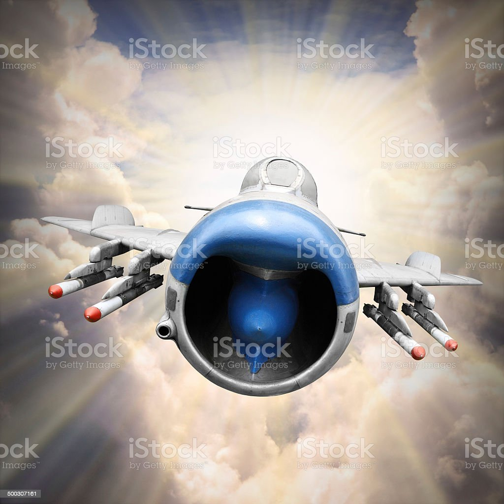 The Jet Fighter. stock photo