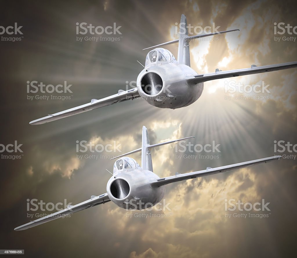 The jets. stock photo