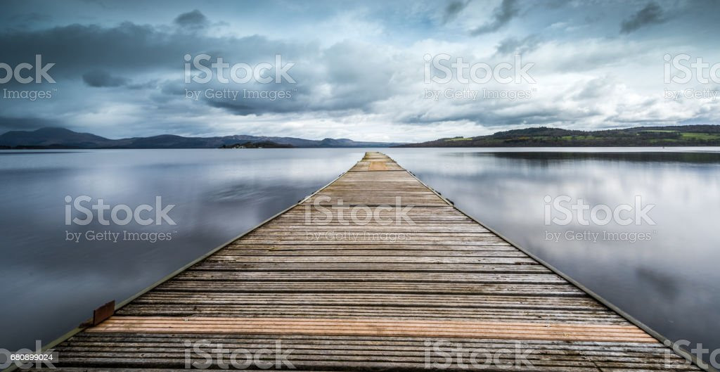 The Jetty at Loch Lomond royalty-free stock photo