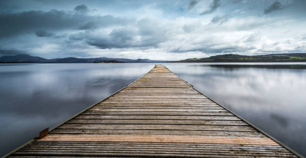 The Jetty at Loch Lomond - foto de acervo