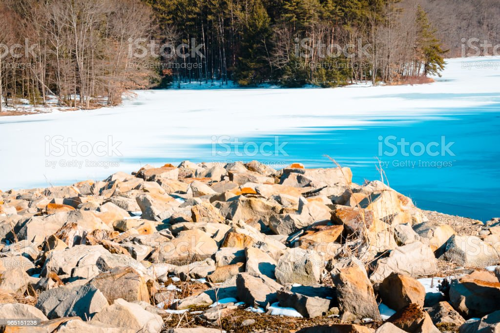 The Jetty at Yellow Creek Park dam royalty-free stock photo