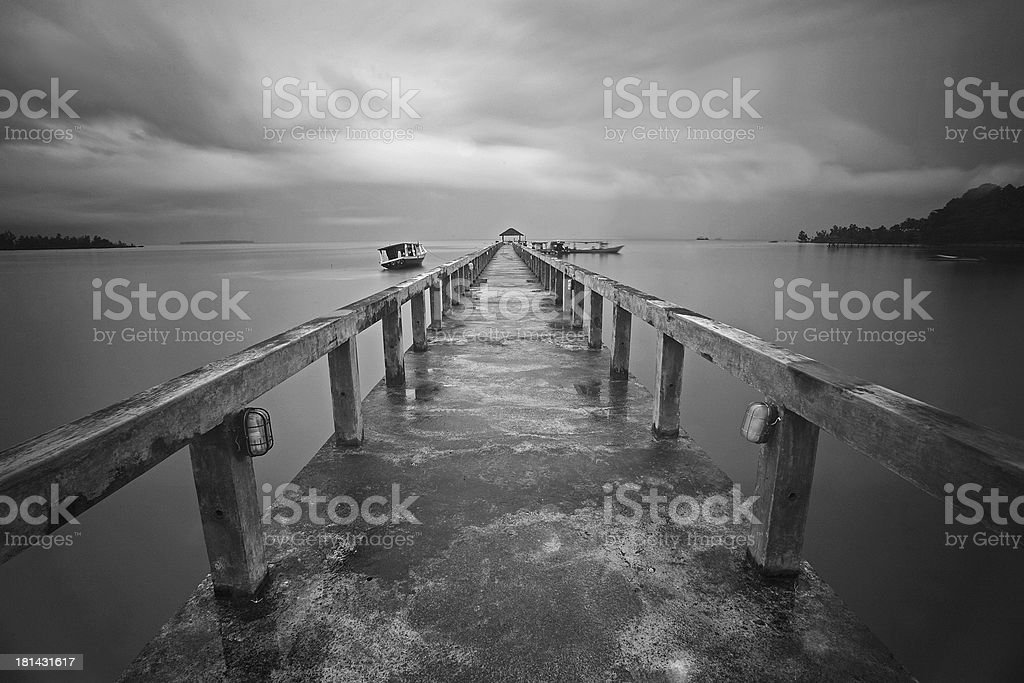 The jetty stock photo