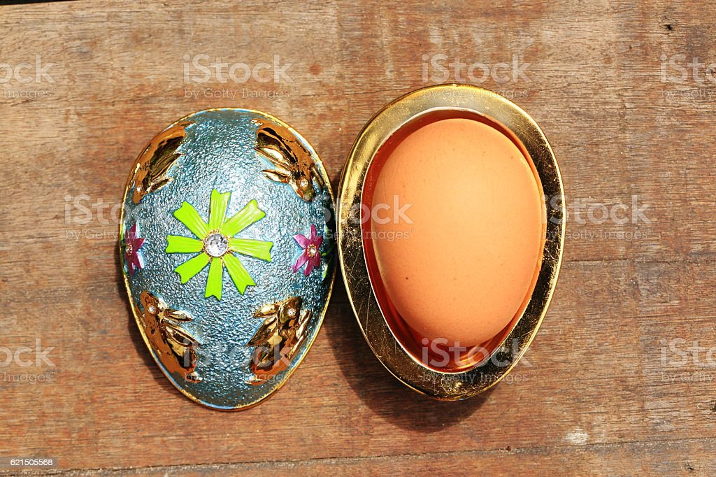 The jewelry box shaped egg Lizenzfreies stock-foto