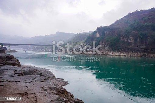 Jinsha river scenery, Shuifu county, Yunnan province, China.