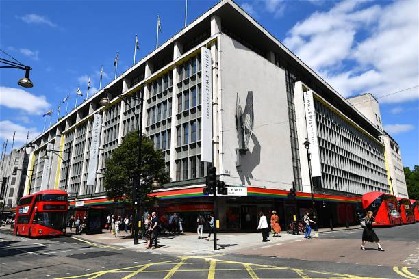 英國倫敦牛津街的約翰·路易斯大樓。 - john lewis 個照片及圖片檔