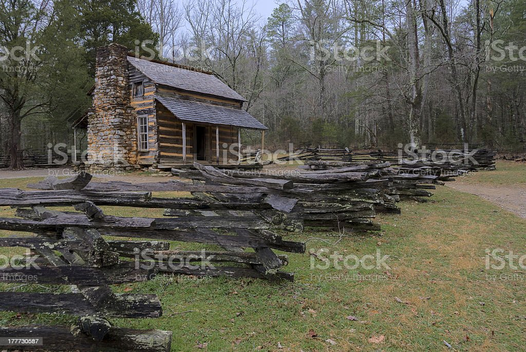 The John Oliver Place in Smoky Mountains stock photo
