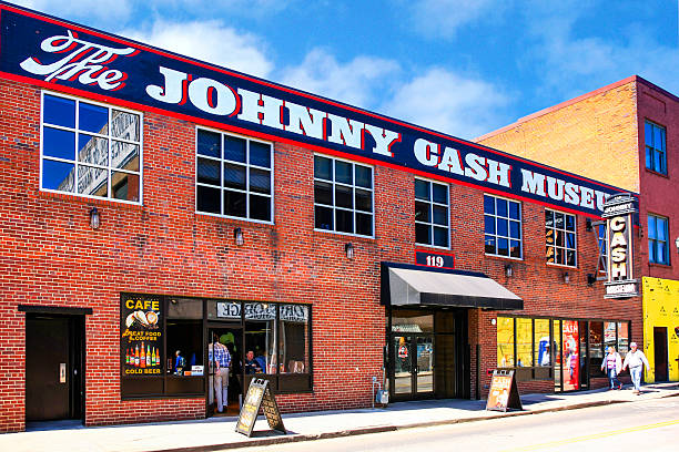 The Johnny Cash Museum on 3rd Ave in Nashville, TN stock photo