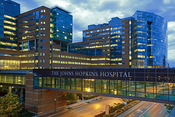 the johns hopkins hospital - hospital building stock photos and pictures