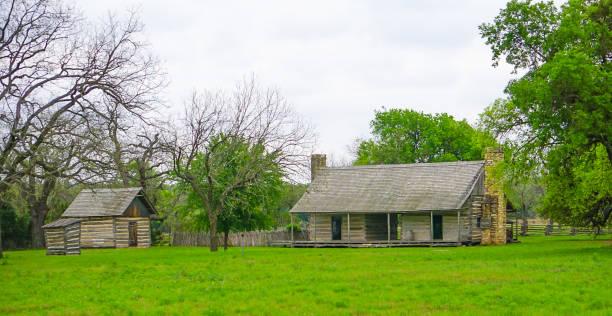The Johnson Settlement Home stock photo
