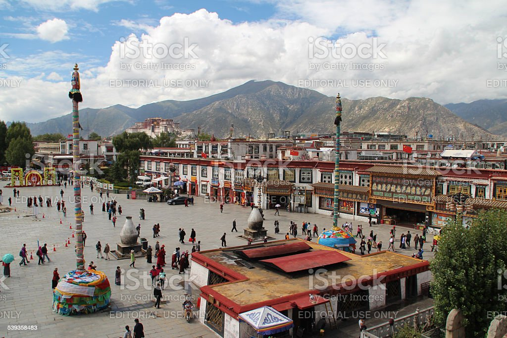 The Jokhang Temple Square stock photo