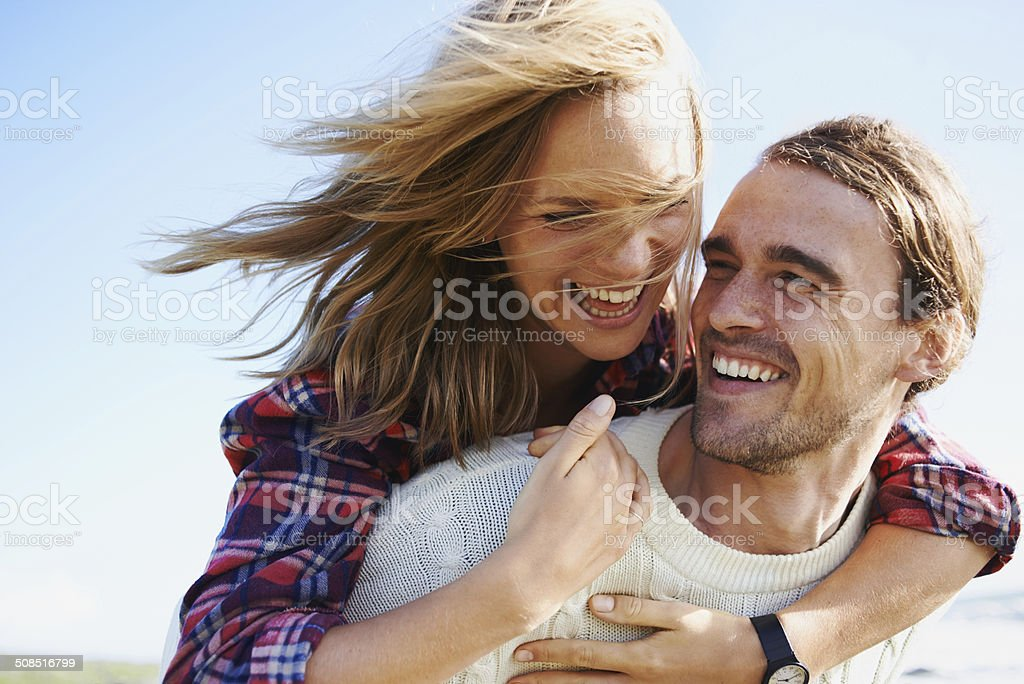 The joy of being in love stock photo