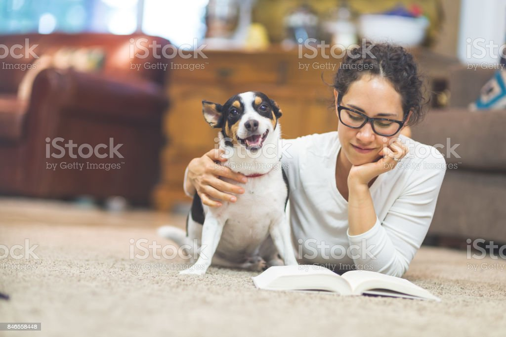 The Joy of Living with Pets stock photo