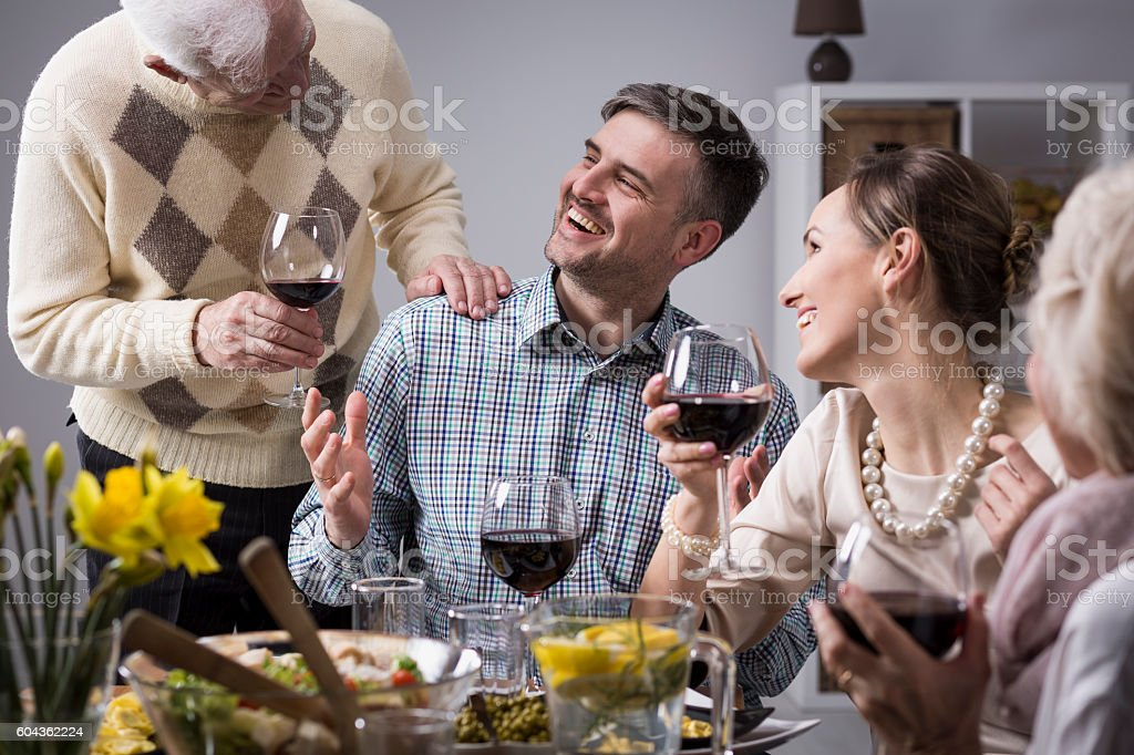 The joy of opportunities to spend time together with family stock photo