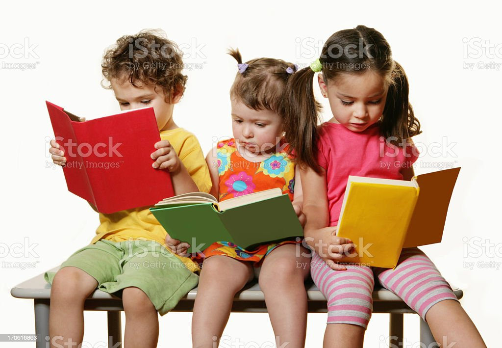 The joy of reading royalty-free stock photo